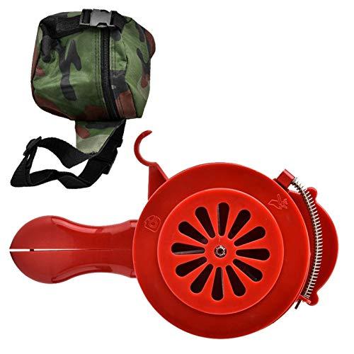 Xirfuni Alarma de Ataque aéreo, Alarma de bocina, Alarma de Sirena de Aire de Carcasa de plástico, bocina de Ataque aéreo, Manual portátil Desmontable para la Seguridad del hogar