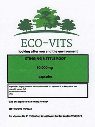 ECO-VITS Organic STINGING Nettle Root Extract 10,000 MG 30 CAPS