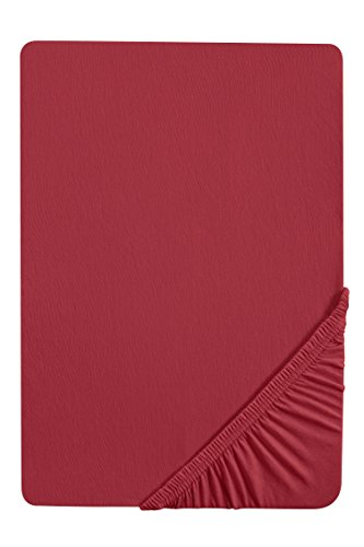 biberna 0077144 Spannbetttuch Feinjersey (Matratzenhöhe max. 22 cm) 1x 180x200 cm > 200x200 cm, rost
