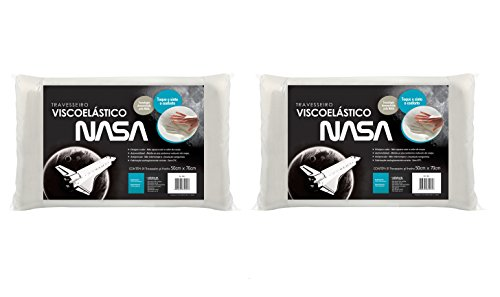 Kit 2 peças Travesseiro NASA para fronhas 50x70cm - Fibrasca