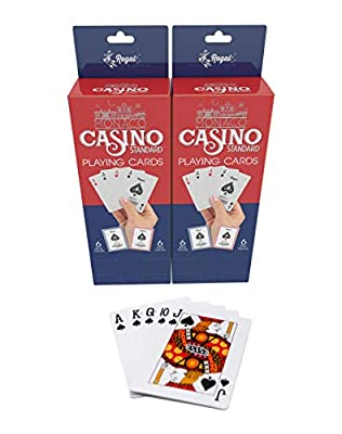 Regal Games Casino Standard Poker Size Playing Cards (Set of 12 Decks) (24 Decks 12 red 12 Blue)