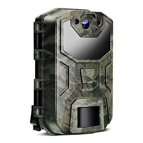 Victure Wildkamera 20MP 1080P Full HD Leichtes Glühen Infrarot Nachtsicht Bewegungsmelder und Upgrade Wasserdichtes Design für Jagd, Überwachung von Eigentum und Tieren