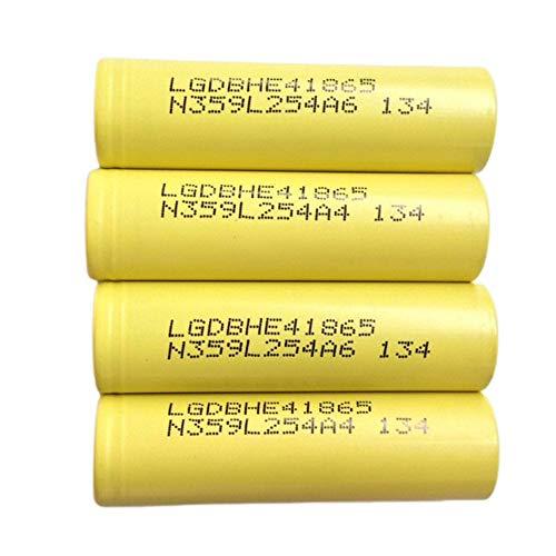 4PCS LG 18650 HE4 BateríA De Litio De Potencia 2500mAh Capacidad De Hasta 25A BateríA De Litio Recargable De Cabeza Plana De Corriente Continua BateríA Segura Y EcolóGica Linterna Banco De EnergíA