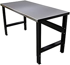 Borroughs Adjustable Height Work Bench with Stainless Steel Top, 28 in X 48 in