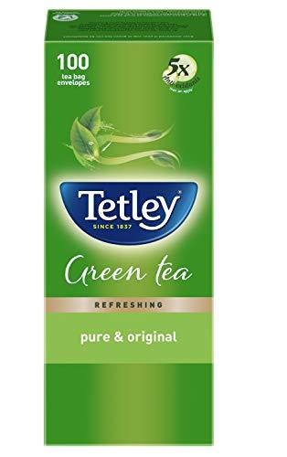 Tetley Green Tea - Pure & Original, 100 tea bags (1.3g each)
