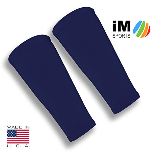 iM Sports SKINGUARDS Skin Protection Forearm Sleeves + Protects Aging or Thin Skin + UV Protection - Unisex + Made in USA - Dark Navy - Medium/Large - Pair