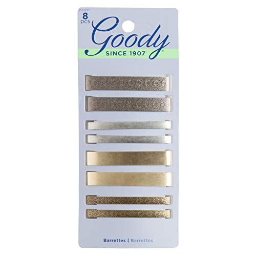 Goody Hair Barrettes, Assorted Metallics, 8-count (1942401)