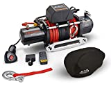 Offroading Gear 12,000 lbs Electric Winch w/Synthetic Rope, Remotes, Hawse Fairlead, Cover…