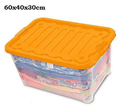 House & Style Volcan Extra Box Storage, Orange, 60 x 40 x 30 cm, 12 unités