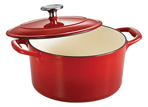 Tramontina 80131/046DS Gourmet Enameled Cast Iron Covered Round Dutch Oven, 3.5-Quart, Gradated Red