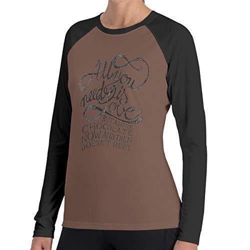 Alles wat je nodig hebt is liefde vrouwen Raglan zachte kleur blok Baseball lange mouwen Pullover Tuniek Top T-Shirts klassieke blouses Top Tee