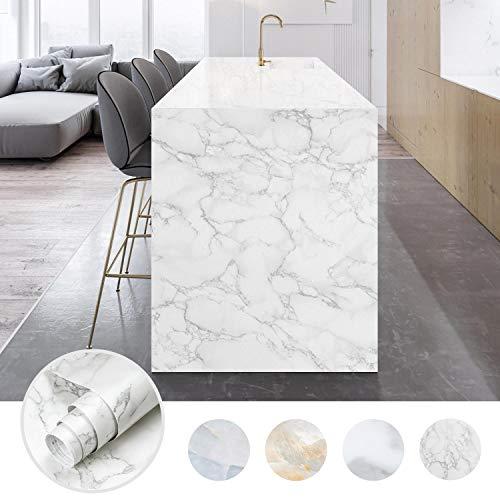 61 x 500 cm Marmor Folie Selbstklebende Klebefolie PVC Wasserdicht Marmorfolie Möbelfolie Granit Küchenfolie DIY Dekofolie Tapete für Schlafzimmer Küche Schrank Tisch, Typ D