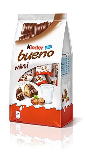 Kinder Bueno Mini - Mini barritas con Relleno de Leche y Avellanas, Recubiertas de Chocolate
