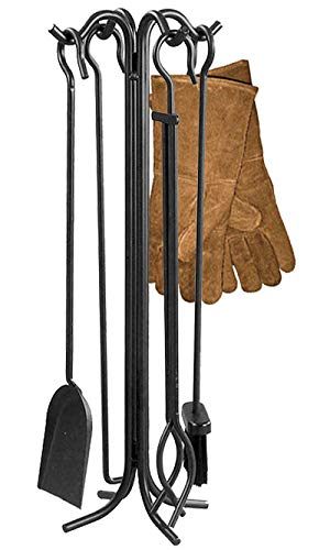Find Discount BestNest Panacea Steel Fireplace Tool Set with Hearth Gloves