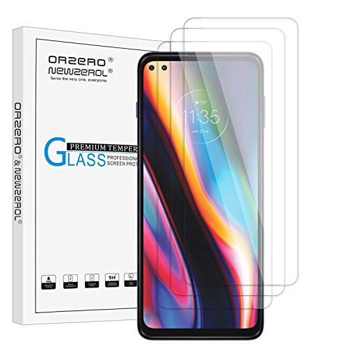 NEWZEROL 3 Stück Bildschirmschutzfolie für Motorola Moto G 5G Plus Panzerglas Fallfre&lich Gebogene Kante Anti Scratch Staubschutz der Frontkamera 9 Festigkeit Hochauflösende Aus Gehärtetem Glas