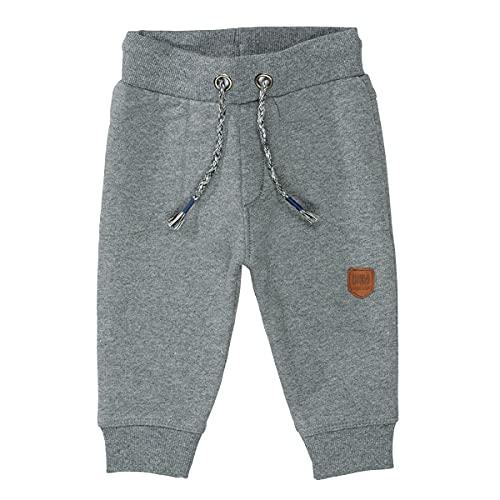 Unisex Baby Jogginghose | Kordelzug Stone Grey Mel. | elastische Rippbündchen Größe 80 für Jungen und Mädchen
