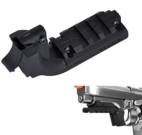 Hygoo Tatical 20mm Under Rail Mount Pistol Laser Flashlight Adapter for Beretta M9 product image