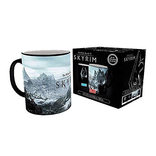 GB eye Kaffeebecher Skyrim, Drachen-Symbol, Wärmewechselnd, Keramik, verschieden, 15 x 10 x 9 cm