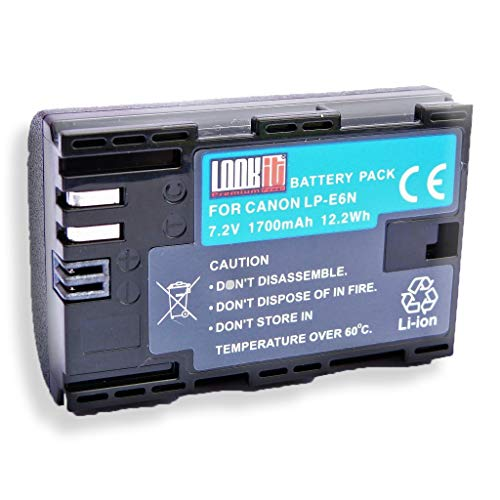 LOOKit Battery Pack LP-E6N - für Canon EOS R, Canon 6D MARK II, Canon EOS 5D Mark IV, Canon EOS 80D EOS 5DS EOS 5DS R EOS 7D Mark II