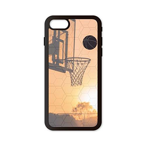 PHONECASES3D Funda móvil Compatible con iPhone 7/Compatible con iPhone 8 Baloncesto Canasta. Carcasa de TPUde Alta protección. Funda Antideslizante, Anti choques y caídas.
