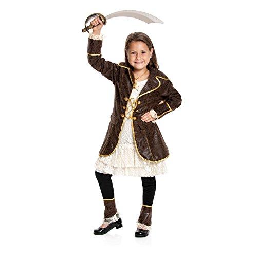 Kostümplanet® Piratin-Kostüm Kinder Piraten-Kostüm Mädchen Faschingskostüm Größe 152