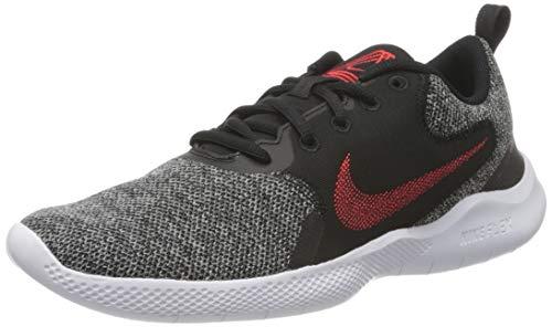 Nike Men's Flex Experience RN 10 Running Shoe, Black Univ Red Dk Smoke Grey White, UK
