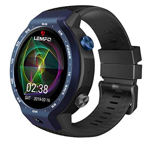 T-XYD Orologi Sportivi, Orologi Intelligenti 4G Dual System Impermeabile GPS Card di Posizionamento Z30 Smart Bracciale cronografo a Pedale Orologi,Blue