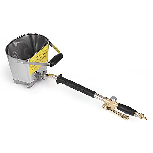 VISLONE Pulverizador de Mortero 4 Orificios Pistola de Mortero de Cemento Hormigón Estuco Yeso Pintura Pulverizador para Paredes