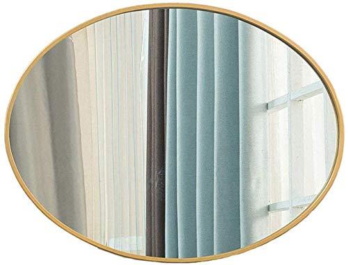 YO-TOKU up spiegel compacte spiegel -Mirrors Badkamer Decoratieve meubels Ovale Spiegel van de Badkamers make-up Scheren Muur Mirror Quality Thuis kaptafel decoratieve Mirror Quality Metal Frame Wall