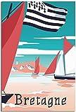 LGHLJ Poster & Kunstdrucke Bretagne Vintage Dekor Bild