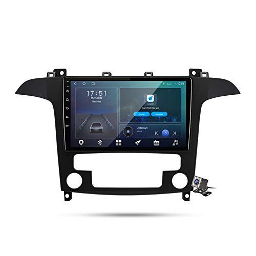 Buladala Android 10 Autoradio Stereo GPS Navigatore 2 DIN con 9' Schermo per Ford S-Max S Max 1 2006-2015 Supporto FM AM RDS DSP/Controllo del Volante/Carplay Android Auto/BT Vivavoce,M600