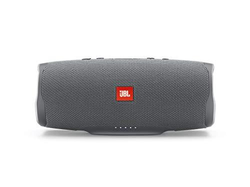 JBL Charge 4 - Altavoz inalámbrico portátil con Bluetooth, parlante resistente al agua (IPX7), JBL Connect+, hasta 20 h de reproducción con sonido de alta fidelidad, gris