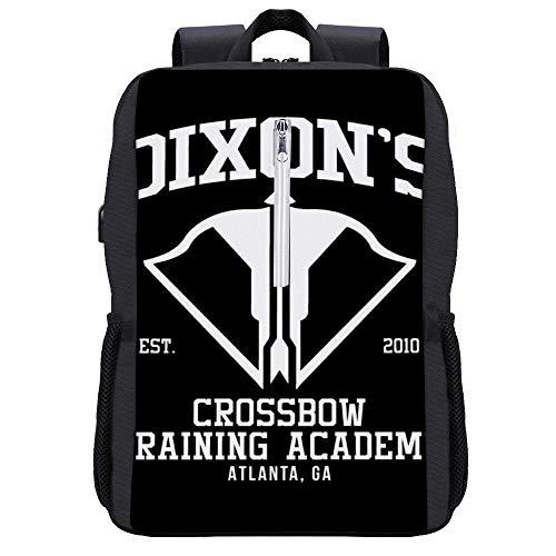 Dixons Crossbow Training Academy Walking Dead Rucksack Daypack Bookbag Laptop Schultasche mit USB-Ladeanschluss