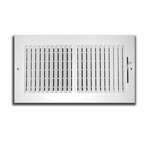 Truaire C102M 10X06(Duct Opening Measurements) 2-Way Supply 10-Inch by 6-Inch Sidewall or Ceiling Register Grille, White