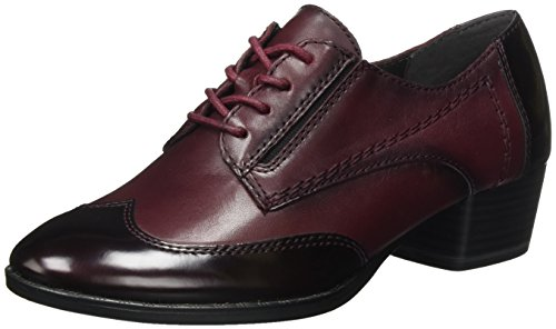 Tamaris Damen 23313 Oxfords, Rot (Borde/Merlot), 40 EU