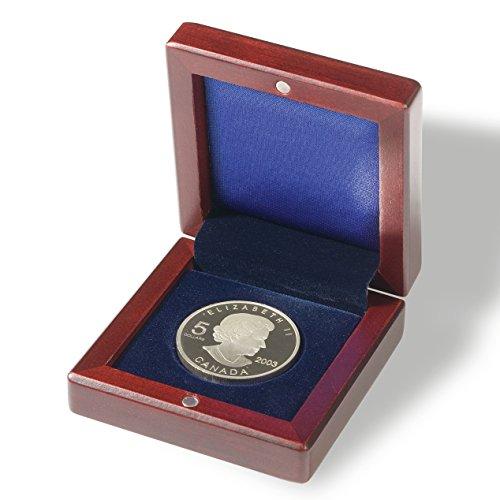 Leuchtturm 337256 Münzetui VOLTERRA mit runder Facheinteilung | Für 1 Münze bis 60 mm Ø | mahagonifarben