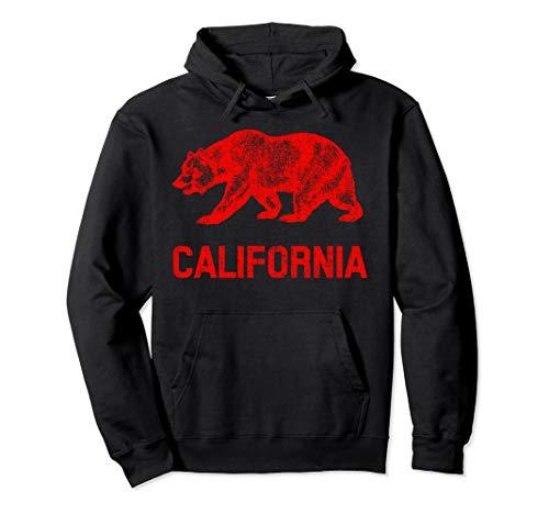 Kalifornien Republik Flagge Distressed Bär Pullover Hoodie