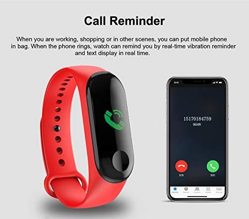 Fitness Trackers,Pantalla de Color Impermeable Monitor de Ritmo cardíaco Pulsera Inteligente Podómetro Contador de… 8