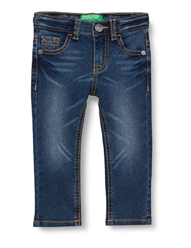 United Colors of Benetton Pantalone 4dur57l60 Pantaln, Denim Blue 901, 2 Años para Bebés