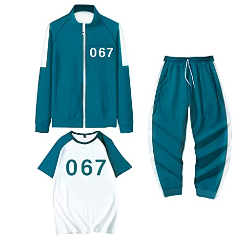 IUTOYYE 3 PCS Game Costume Cosplay Hobbies Tracksuit Sweatshirt Jackets Pants Suits Christmas Halloween Clothing for Man Woman Boy Girl (067, M)