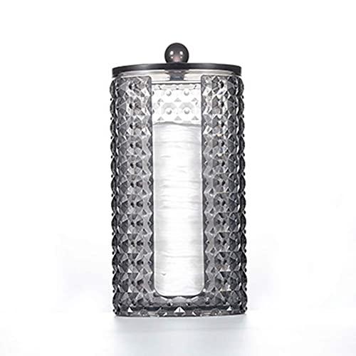 Guuisad Caja de almacenamiento cosmético acrílico a prueba de polvo Organizador de algodón Organizador Accesorios de baño Soporte de joyería de lápiz labial Caja de plástico de almacenamiento de algod