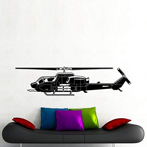 Woonkamer militaire helikopter muursticker achtergrond kunst decoratie vinyl lijm muur sticker 178,5x45cm
