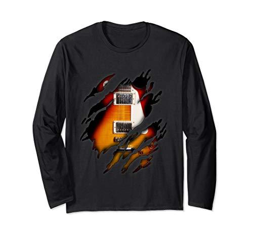 E-Gitarre in mir Design, Gitarre Langarmshirt