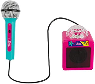 Barbie Kids Bluetooth Karaoke Machine with Light-Up Disco Ball, Includes a Microphone So You Can Sing-A-Long with Your Pals by Sakar