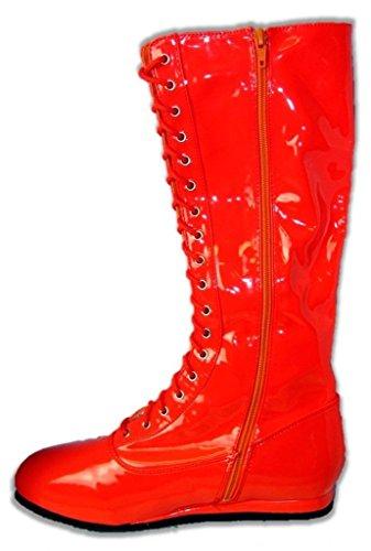Pro Wrestling Costume Boots (Medium Red)
