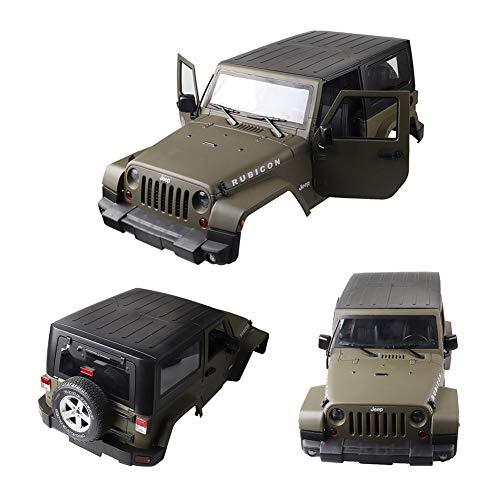 Luerme RC Car Body Shell, 1: 10 RC Scale Truck Hartplastik Karosserie Shell Cover für Wrangler Jeep Matte