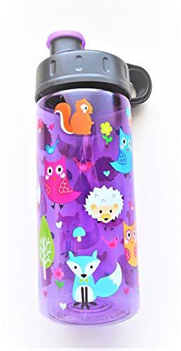 Cool Gear Fox/Owl 16 oz/473 mL Sullivan Bottle Purple/Assorted Colors Water Bottle
