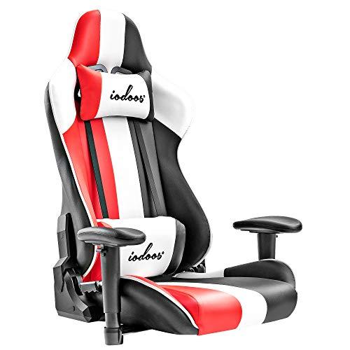 iodoos ゲーミングチェア 座椅子 ゲーミング座椅子 回転 170度リクライニング ひじ掛け付き 無償部品交換保証165AAA