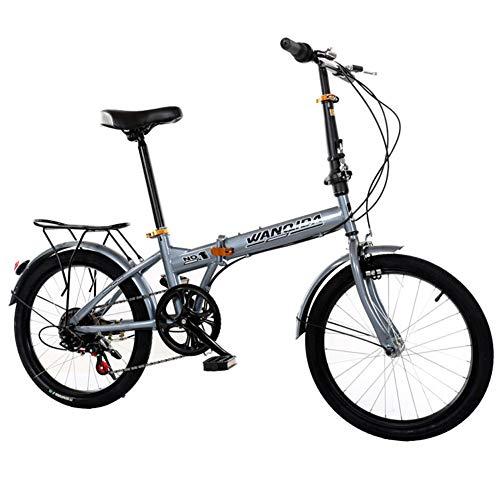 DPGPLP Opvouwbare fiets, 20 inch, opvouwbaar, met snelheid, variabel opvouwbaar, voor heren en dames, ultralight