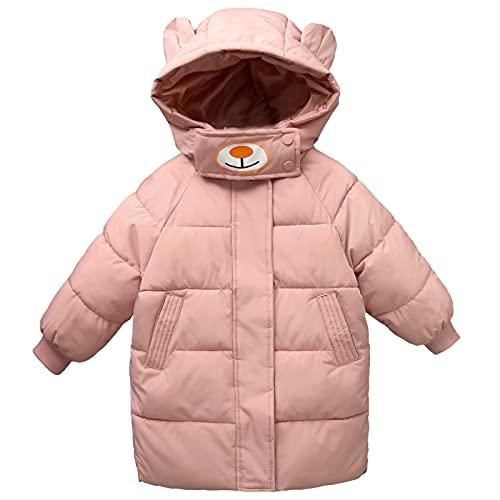 AIEOE Chaqueta de Invierno para Niños Niñas Abrigos con Capucha Acolchada de Pluma Mediano Largo Cortavientos